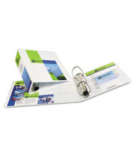 """Avery 4"""" Capacity 8-1/2"""" x 11"""" EZD Ring One Touch View Binder, White"""