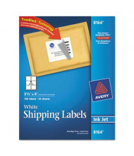 "Avery 3-1/3"" x 4"" Inkjet Printer Internet Shipping Labels, White, 150/Pack"