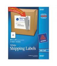 "Avery 8-1/2"" x 11"" Inkjet Printer Internet Shipping Labels, White, 25/Pack"