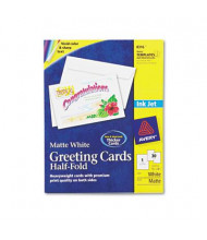 """Avery 5-1/2"""" x 8-1/2"""", 30-Cards, Matte Half-Fold Inkjet Greeting Cards with Envelopes"""