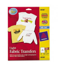 "Avery 8-1/2"" x 11"", 18-Sheets, Inkjet Light Fabric Transfer Paper"