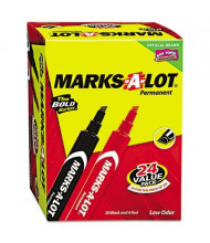 Marks-A-Lot Large Permanent Marker, Chisel Tip, Assorted, 24-Pack