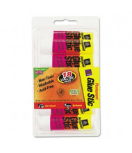 Avery .26 oz Permanent Glue Sticks, White Application, 18/Pack