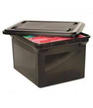 """Advantus 18"""" D Letter & Legal File Tote Storage Box w/ Lid, Black"""