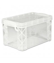 "Advantus Super Stacker Plastic Storage Box, Holds 400 3"" X 5"" Cards, Clear"