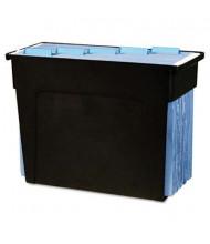 """Advantus 13-1/2"""" D Letter Desktop File Box, Black"""