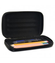 Advantus Large Soft-Sided Pencil Case with Zipper Closure, Black