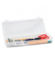 Advantus Snap Shut Stretch Art Box, Clear