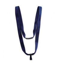 "Advantus 36"" J-Hook Earth-Friendly Lanyard, Blue, 10/Pack"
