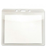 "Advantus 4"" x 3"" Horizontal PVC-Free Badge Holders, Clear, 50/Pack"