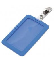 "Advantus 2-1/2"" x 3-3/4"" Rubberized Badge Holder, Blue, 5/Pack"
