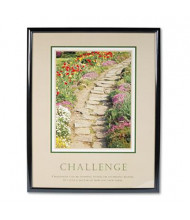"Advantus ""Challenge"" Framed Motivational Print, 24"" W x 30"" H"