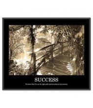 """Advantus """"Success"""" Framed Motivational Print, 30"""" W x 24"""" H"""
