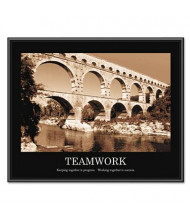"""Advantus """"Teamwork"""" Framed Motivational Print, 30"""" W x 24"""" H"""