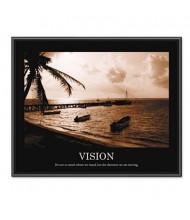 "Advantus ""Vision"" Framed Motivational Print, 30"" W x 24"" H"