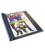 "Advantus 1/2"" Capacity 9-1/2"" x 11-1/4"" Punchless Vinyl Magazine Binder, Navy Blue"