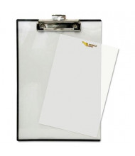 "Baumgartens 1/2"" Capacity 8-1/2"" x 11"" Quick Reference Clipboard, Clear"