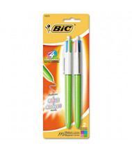 BIC 4-Color 1 mm Medium Retractable Ballpoint Pen, Assorted, 2-Pack