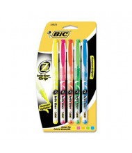 BIC Brite Liner + Chisel Tip Highlighter, Assorted, 5-Pack