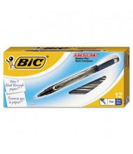 BIC Intensity 0.5 mm Fine Stick Porous Point Pens, Blue, 12-Pack