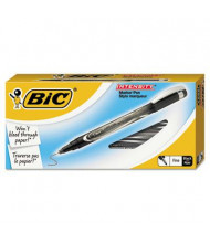 BIC Intensity 0.5 mm Fine Stick Porous Point Pens, Black, 12-Pack