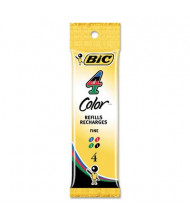 BIC Refill for Fine Retractable Ballpoint Pens, Assorted Ink, 4-Pack