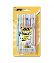 BIC #2 0.7 mm Assorted Colors Plastic Mechanical Pencils, 24-Pack