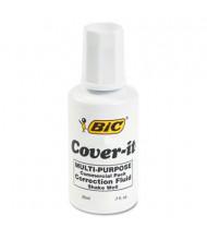 BIC Cover-It Commercial Correction Fluid, 20 ml Bottle, White
