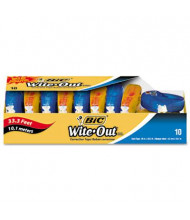 """BIC Wite-Out EZ Correct 1/6"""" x 472"""" Correction Tape, White, 10-Pack"""