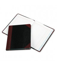 "Boorum & Pease 7-5/8"" x 9-5/8"" 150-Page Journal Rule Record Account Book, Black/Red Cover"