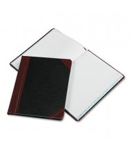 "Boorum & Pease 7-5/8"" x 9-5/8"" 150-Page Record Rule Account Book, Black/Red Cover"