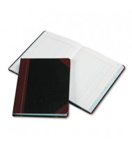 "Boorum & Pease 7-5/8"" x 9-5/8"" 300-Page Journal Rule Record Account Book, Black/Red Cover"
