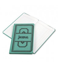 "Boorum & Pease 7-5/8"" x 12-1/8"" 150-Page Journal Rule Account Book, Blue Cover"