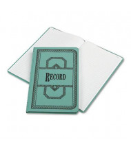 "Boorum & Pease 7-5/8"" x 12-1/8"" 150-Page Record Rule Account Book, Blue Cover"