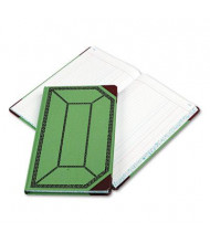 "Boorum & Pease 7-5/8"" x 12-1/2"" 300-Page Journal Rule Record Account Book, Green/Red Cover"