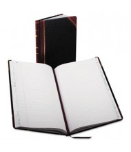 "Boorum & Pease 8-5/8"" x 14-1/8"" 150-Page Record Account Book, Black/Red Cover"