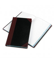 "Boorum & Pease 8-5/8"" x 14-1/8"" 300-Page Record Account Book, Black/Red Cover"
