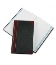 "Boorum & Pease 8-5/8"" x 14-1/8"" 500-Page Journal Rule Record Account Book, Black/Red Cover"