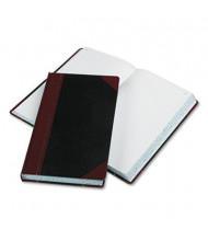 "Boorum & Pease 8-5/8"" x 14-1/8"" 500-Page Record Rule Account Book, Black/Red Cover"