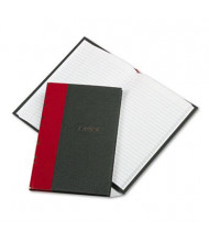 "Boorum & Pease 5-1/4"" x 7-7/8"" 144-Page Record Account Book, Black/Red Cover"