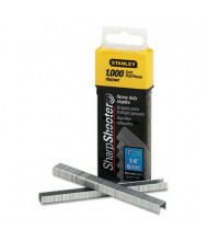 "Stanley SharpShooter Staples, 1/4"" Leg, 1000/Box"
