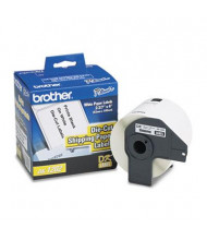 "Brother DK1202 Die-Cut 2-3/7"" x 4"" Paper Shipping Label Roll, White, 300/Roll"