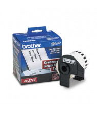 """Brother DK2113 Continuous Film 2-3/7"""" x 50 ft. Label Tape Roll, Clear"""