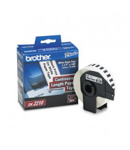 """Brother DK2210 Continuous Paper 1.1"""" x 100 ft. Label Tape Roll, White"""