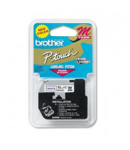 "Brother P-Touch MK233 M Series 1/2"" x 26.2 ft. Tape Cartridge, Blue on White"