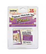 "Brother P-Touch TZEAF231 TZ Series 1/2"" x 26.2 ft. Photo-Safe Tape, Black on White"
