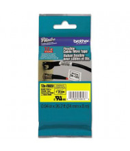 "Brother P-Touch TZEFX651 TZe Series 1"" x 26.2 ft. Flexible Tape Cartridge, Black on Yellow"