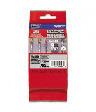 """Brother P-Touch TZES961 TZe Series 1-1/2"""" x 26.2 ft. Labeling Tape, Black on Matte Silver"""
