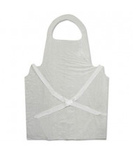 Boardwalk Disposable Polypropylene Apron, White, 100/Pack