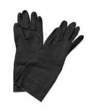 Boardwalk Medium Neoprene Flock-Lined Long-Sleeved Gloves, Black, 12 Pairs